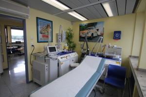 Behandlungsraum, Pritsche